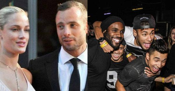 Horror na casa de Oscar Pistorius e Neymar curtindo balada foram ...