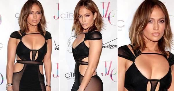 Jennifer Lopez usa vestido ousado