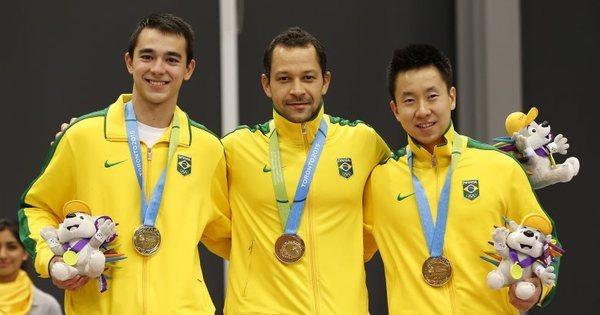 Brasil leva ouro, prata e bronze no tênis de mesa - Rede record - R7 ...