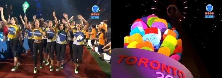 Toronto se despede do Pan com festa e fogos
