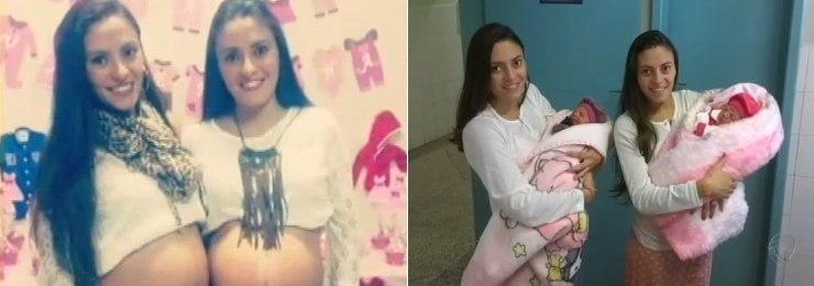 Gêmeas idênticas dão à luz no mesmo dia em Santa Catarina