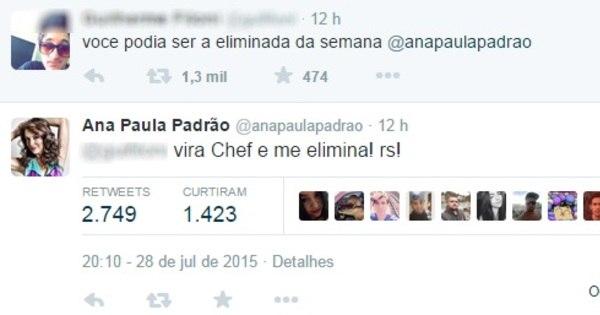 Ana Paula Padrão bate boca com internautas após receber críticas ...