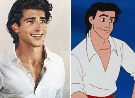 Artista faz ilustrações realistas dos príncipes da Disney. Compare!