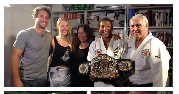 Ronda Rousey visita instituto do affair judoca e deixa cinturão do ...