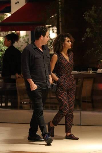 Os dois estavam em um shopping na Barra da Tijuca, no Rio de Janeiro
