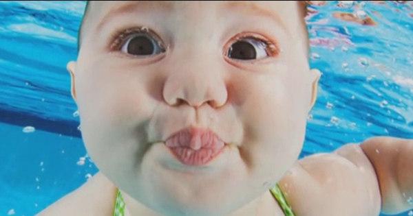 Fotógrafo faz ensaio apaixonante com bebês mergulhando em ...