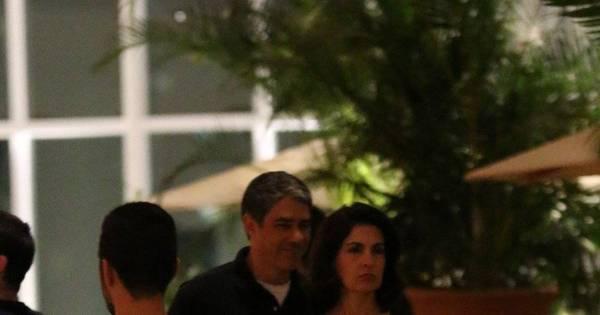 Willian Bonner e Fatima Bernardes saem para jantar no Rio de ...