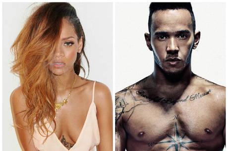 Rihanna pode estar namorando o piloto de Fórmula 1 Lewis Hamilton
