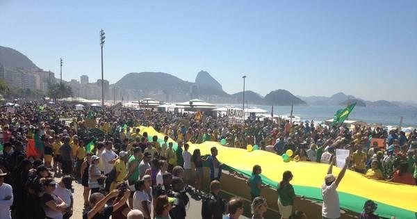 Manifestação contra governo teve princípio de tumulto no Rio ...