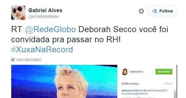 Deborah Secco ignora proibição da Globo, homenageia Xuxa e ...