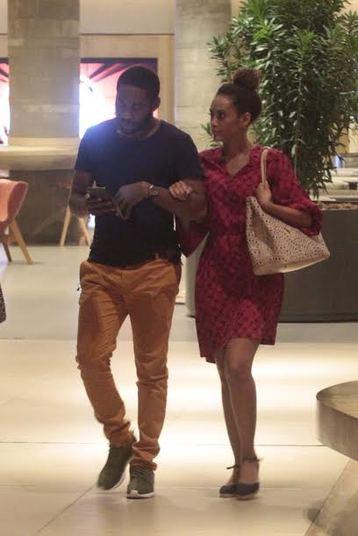 Os dois foram a um restaurante badalado no shopping carioca