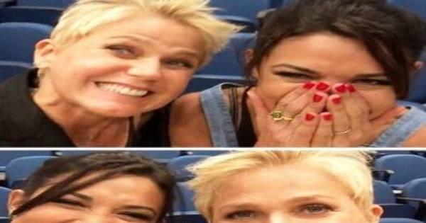 """Giselle Itié posta foto com Xuxa e abre coração: """"Sem palavras ..."""