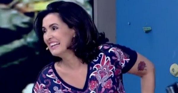 Fátima Bernardes aparece com tatuagem e causa um furor no Twitter