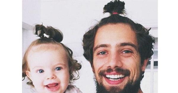 Que fofura! Rafael Cardoso faz o mesmo penteado da filha para tirar ...
