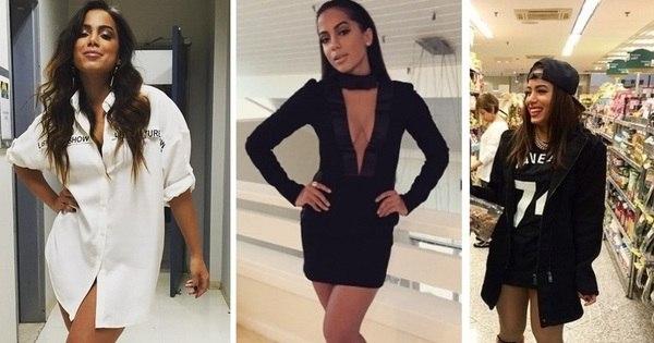 Anitta usa camisa masculina como vestido; veja outros looks ...