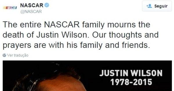 Astros do automobilismo se solidarizam com família de piloto que ...