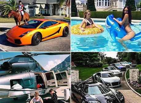 Playboys clicam jatos, mansões e helicópteros para postar na web