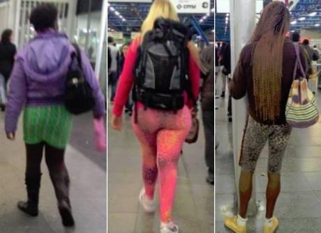 Frio repentino faz passageiros apostarem em looks inusitados