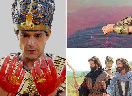 Primeira praga transforma águas límpidas do rio Nilo em sangue