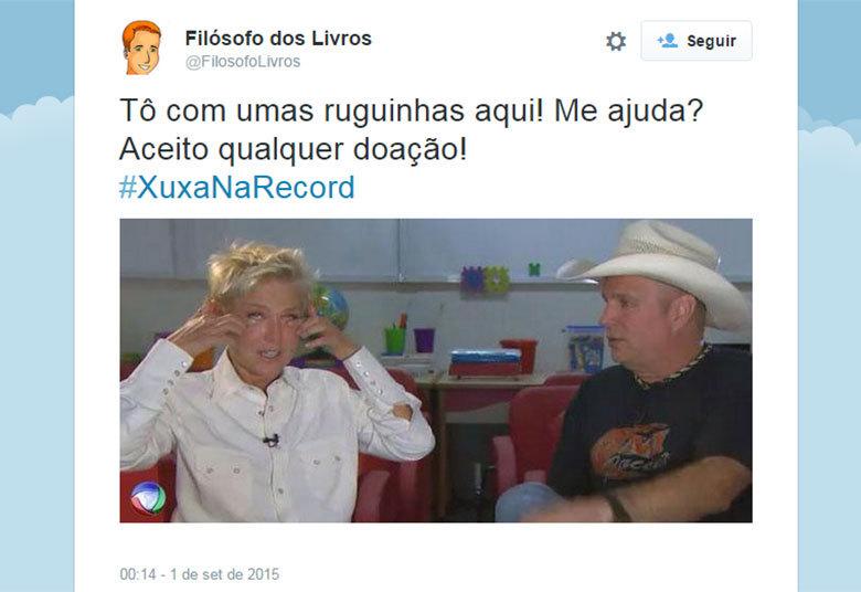 Nem a entrevista de Xuxa com o astro internacional Garth Brooks ficou livre da zoeira na internet> Acesse o R7 Play e assista na íntegra a todos os programas da Record! Clique e experimente de graça!
