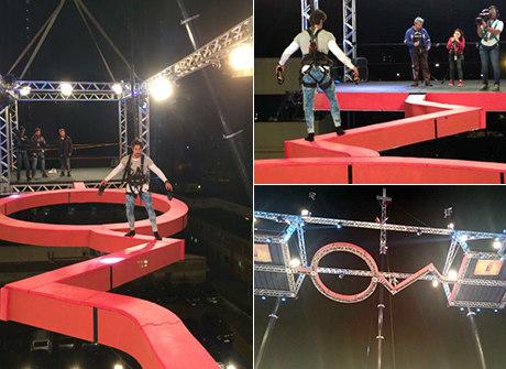 Desafiado por Juju, Mion encara ponte a 15 metros do chão