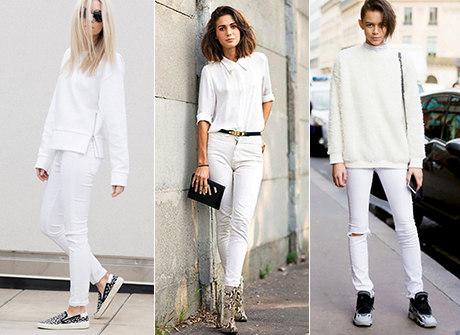Jeans branco promete ser o novo hit do seu guarda-roupa