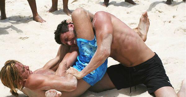 Eletrizante! Gabe e Gerião brigam na praia. Veja fotos exclusivas ...