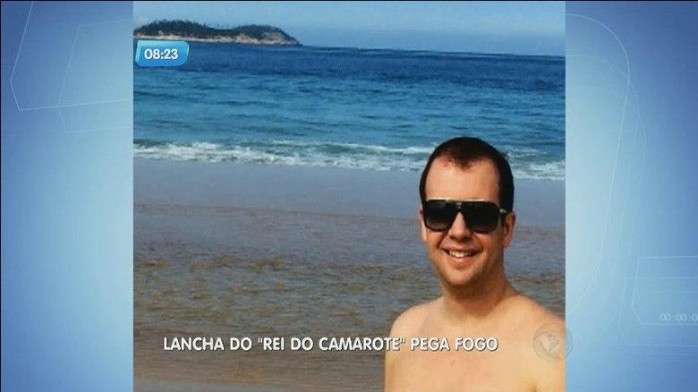 Lancha do 'Rei do Camarote' pega fogo no litoral de São Paulo