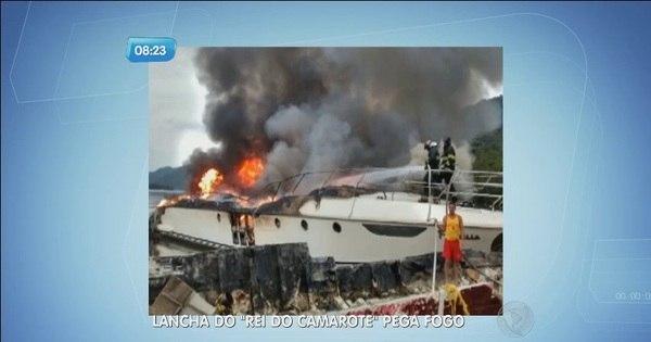 Lancha do 'Rei do Camarote' pega fogo no litoral de São Paulo ...