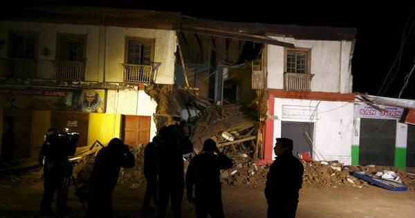 Veja imagens do forte terremoto que deixou pelo menos dez mortos ...
