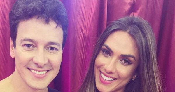 Nicole Bahls dá fora em bonitão durante pegadinha de Rodrigo Faro