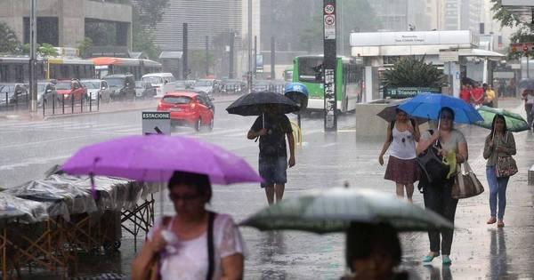 Fim de semana será chuvoso em SP e calorão dá trégua - Notícias ...