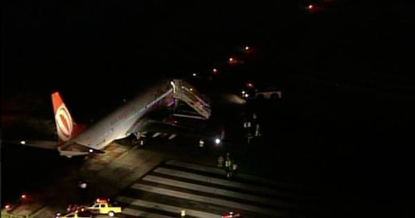 Avião derrapa na pista e aeroporto Santos Dumont fecha para ...