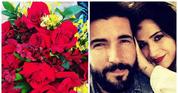 Grávida, Jéssica Costa ganha flores de Sandro Pedroso e se ...