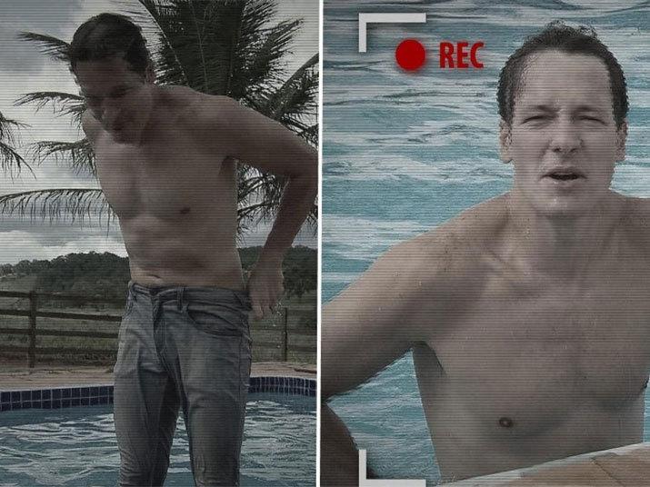 Durante uma visita que fez à fazenda de Amado Batista, Rodrigo Faro não aguentou o calor de Goiânia e mergulhou na piscina do cantor usando calça jeans.Assista todas às transformações daHora do Farono R7 Play!