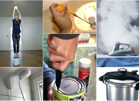 Veja 15 riscos de acidentes que você pode correr dentro de casa