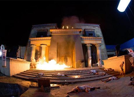 """Equipe de efeitos especiais """"destruiu"""" o Egito na sétima praga"""