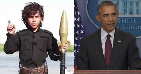 Criança terrorista ameaça cortar cabeça de Obama em novo vídeo ...