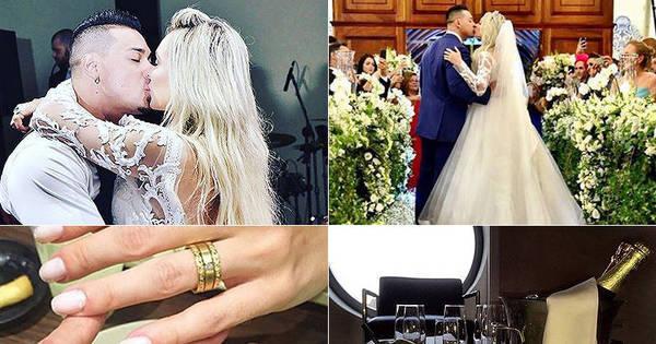 Juju Salimeni e Felipe Franco abrem álbum de casamento