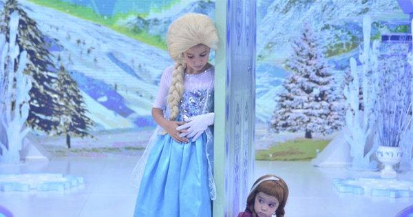 Que fofura! Filhas de Rodrigo Faro viram personagens de Frozen ...