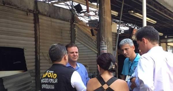 Incêndio atinge 150 boxes no camelódromo da Uruguaiana, no Rio ...