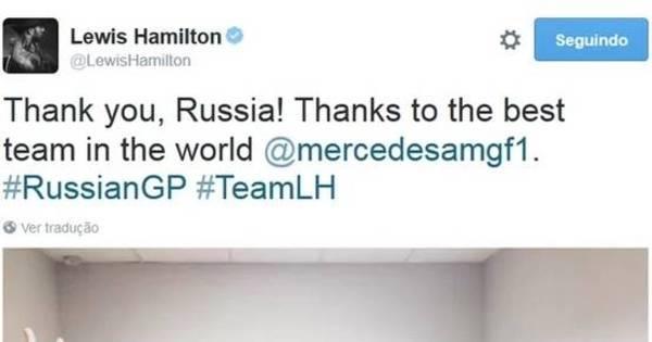 Lewis Hamilton mostra como se deve comemorar uma vitória ...