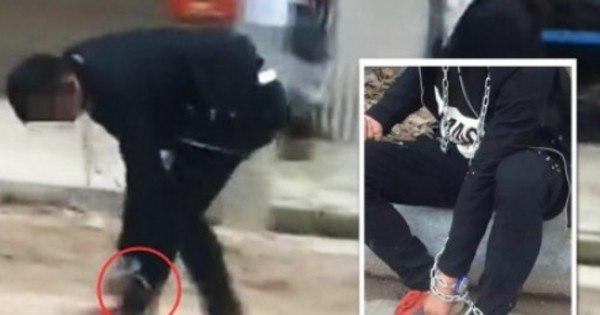 Absurdo! Mãe obriga filho a andar acorrentado pela rua após ele se ...
