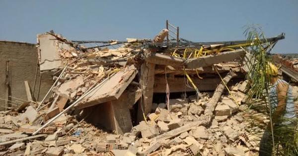 Prédio de três andares desaba e mata pedreiro soterrado em Mariana