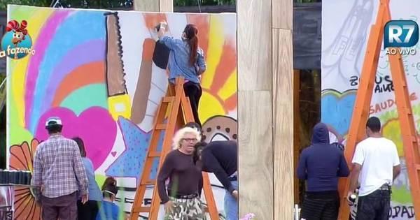 Em atividade com grafite, Thiago Servo faz homenagem a Ana Paula