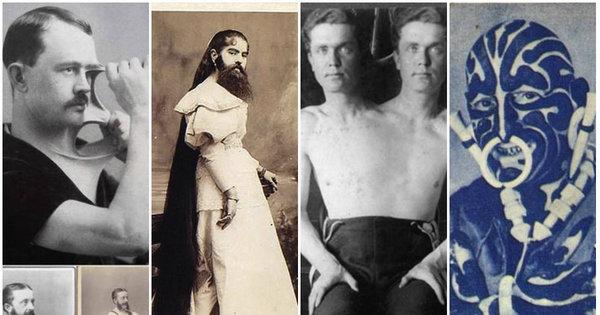 Homens-elástico e mulheres barbadas: 'circos de aberrações ...