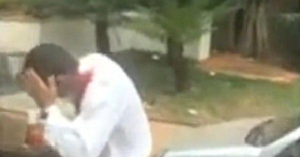 Veja o vídeo: motorista do Uber leva pedrada e é ameaçado com ...