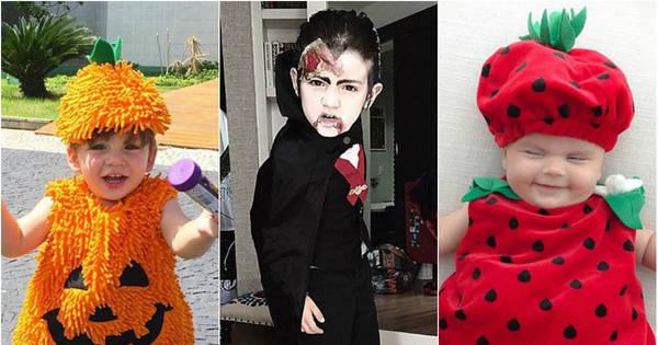 Fofura no Dia das Bruxas! Filhos de famosos aparecem fantasiados ...