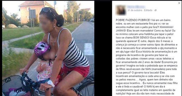 """""""Pobre fazendo pobrice""""! Mulher ofende mães que amamentam e ..."""