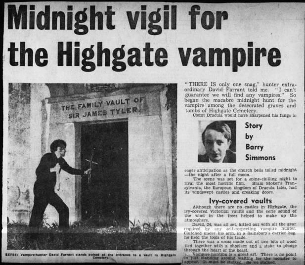 Os dois depoimentos — que vieram de pessoas confiáveis — foram o bastante para uma onda de terror se espalhar ao redor do cemitério